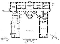 012 Belton House: the plan illustrates the symmetry of the