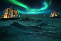 Northernmost hotel of the world, North Pole Igloos hotel concept is movable, sustainable, but still a little extreme. We have been operating in North Pole for… Arctic Weather, Northern Lights Viewing, Polo Norte, Sleeping Under The Stars, Unique Hotels, Arctic Circle, Travel Companies, Stay The Night, Homeschool