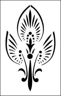 Palmette stencil from The Stencil Library online catalogue. Buy stencils online. Stencil code ER44.