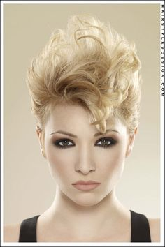 Short Hairstyles - Fresh 80's inspired hair, with light blonde waves!