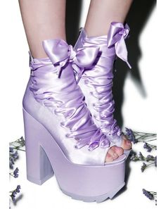 Y.R.U. X Dolls Kill Ballet Bae Satin Platforms | Dolls Kill omg make in kid size!!