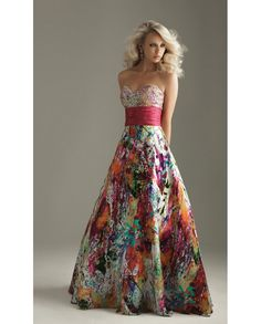 Printed Floral Ballgown 22753 $700   Floral Beauties   Pinterest ...