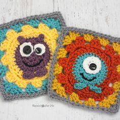 Crochet Monster Granny Squares
