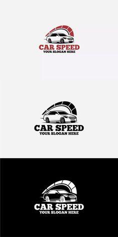 Car Speed Logo Template AI, EPS