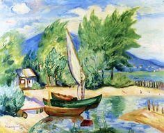 Colombier, White Sail - Henri Manguin