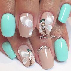 @nails_irinamarten • Beautiful dragonfly nails