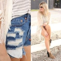 A bit of fringe and some cutoff jeans. #fabfound