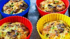 Baked mini frittata recipe with mushrooms cottage cheese and feta low ...