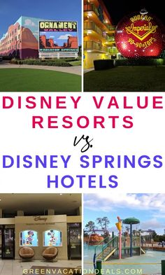 Looking for the best Disney hotels for cheap? If you want to stay at Walt Disney World, the most affordable options are the Value Resorts Best Disney Hotels, Disney Value Resorts, Best Resorts, Disney Vacations, Best Family Vacations, Family Vacation Destinations, Vacation Deals, Disney Tips, Walt Disney