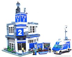 Lego City TV News Station by lgorlando, via Flickr