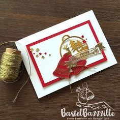 Christmas Card, Weihnachtskarte, Merry Tags, Stars, Confetti, Seasonal Bells, Gold, Embossing, Baker's Twin Trio Pack, Glockenläuten, Weihnachtskugeln, Berlin, Stampin' Up!, SU, Stempeln, stanzen, staunen, Bastelbazzzille