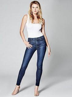 The Stiletto No. 97 Skinny Jean in Everblue Wash at Guess