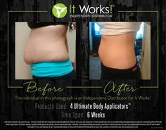 This is why wraps make people cry 1 wrap. Her body is forever changed I still have 4 spots open to get a FREE box of wraps as a product tester! Claim yours today! It Works Wraps, My It Works, It Works Global, Productos It Works, It Works Distributor, Too Much Stress, Ultimate Body Applicator, Product Tester, It Works Products