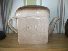 Vintage Hovis Carlton Ware Teapot ----Large Loaf Of Bread Shaped Teapot