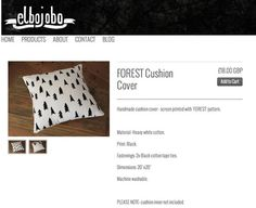 NEW SCREEN PRINTED CUSHIONS! YOU CAM BUY FROM OUR SITE TODAY WHILE STOCKS LAST http://elbojobo.com/collections/cushion-covers/products/forest-cushion-cover