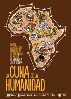 """Nos encanta el cartel que hemos diseñado para la exposición """"La Cuna de la Humanidad"""". Se inaugura hoy, por cierto. http://www.kukuxumusu.com/index.php/es/actualidad/noticias/cartel-para-la-exposicion-la-cuna-de-la-humanidad"""