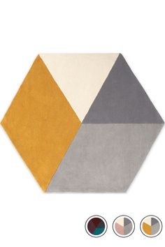 Hagen Medium Hexagon Wool Rug 150 x Pink and Grey Grey Room, Gray Bedroom, Living Room Grey, Trendy Bedroom, Living Room Decor, Bedroom Decor, Mustard And Grey Bedroom, Mustard Living Rooms, Mustard Kitchen