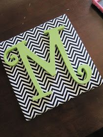 Wooden monogram canvas. Awesome DIY instructions!