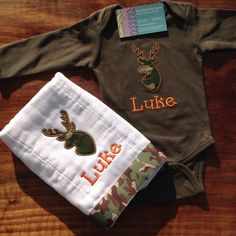 A personal favorite from my Etsy shop https://www.etsy.com/listing/231299370/hunting-deer-buck-personalized-baby-boy