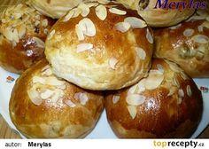 Sladké kynuté bochánky s majonézou recept - TopRecepty.cz Nutella, Baked Potato, Hamburger, Potatoes, Treats, Baking, Ethnic Recipes, Sweet, Food