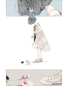 cute, art and anime image on We Heart It Manga Anime, Manga Girl, Anime Art Girl, Art And Illustration, Illustrations, Comic Kunst, Comic Art, Aesthetic Art, Aesthetic Anime