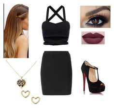 """Untitled #137"" by arianaheartsonedirection ❤ liked on Polyvore featuring T By Alexander Wang, Christian Louboutin, NYX, Marc by Marc Jacobs, women's clothing, women's fashion, women, female, woman and misses"
