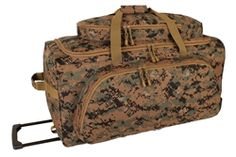 Digital Woodland Rolling Duffle