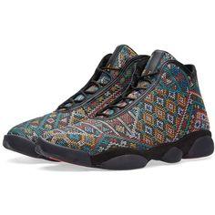 Nike Air Jordan Horizon Premium (22855 RSD) ❤ liked on Polyvore featuring men's fashion, men's shoes, men's sneakers, mens woven leather shoes, mens leather sneakers, mens lightweight running shoes, nike mens sneakers and mens woven shoes