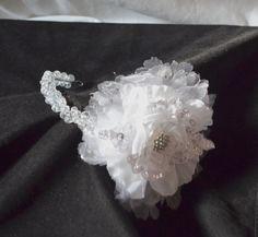 Tiara flower tiara headband bridal headband by creatingwithni