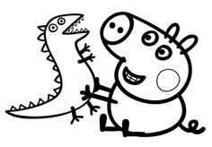 Printable Peppa Pig Coloring Pages. Have a Joy with Peppa Pig Coloring Pages. Do your children like to color pictures? If they do, the Peppa pig coloring pages Peppa Pig Coloring Pages, Family Coloring Pages, Dinosaur Coloring Pages, Cartoon Coloring Pages, Coloring Pages To Print, Printable Coloring Pages, Colouring Pages, Free Coloring, Coloring Pages For Kids