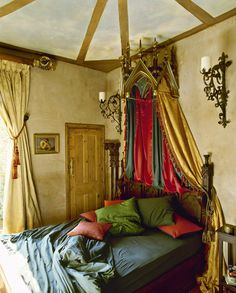 Eclectic gothic bedding | Red Cover collection of home interior photos