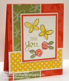 Stampin' Up! Garden in Bloom Butterflies