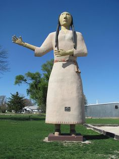 In 1954, the Shaw family of Pocahontas started creating the World's Largest Indian Maiden. Two years later, the 25 foot tall statue was completed. The family still maintains the statue.