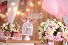 Balloons and flowers from a Butterfly Garden Party on Kara's Party Ideas | KarasPartyIdeas.com (8)