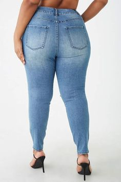 Forever 21 Plus Size High-Rise Jeans Back To School Deals, Forever 21 Plus, Curvy Plus Size, High Rise Jeans, Skinny Jeans, Fashion, Moda, Fashion Styles, High Waisted Denim Jeans