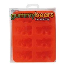 "Gummy Bear Silicone Ice Cube Tray ~  'It""s a food-safe ice tray that makes bears! There are 8 bear molds per tray - plenty to use in water, fruit juices, or chocolate. Perfect for parties, teddy bear picnics, and every get-together involving beverages, including parties for one, this Gummy Bear Silicone Ice Cube Tray is even dishwasher safe for easy use.  Nerdy note: For crystal clear ice, boil the water twice before pouring it onto the tray. Allow the water to cool between each boil."
