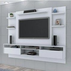 Tv Unit Interior Design, Tv Unit Furniture Design, Wall Unit Designs, Living Room Tv Unit Designs, Tv Unit Decor, Tv Wall Decor, Tv Cabinet Design, Tv Wall Design, Lcd Panel Design