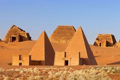 The pyramids in Royal City, in Meroe, Sudan