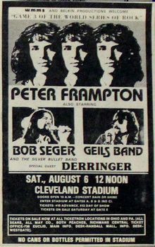 Peter Frampton, Bob Seger, J.Geils Band                                                                                                                                                                                 More