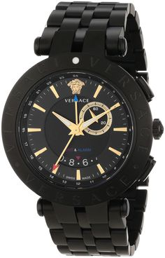"Versace Men's 29G60D009 S060 ""V-Race"" Black Stainless Steel Watch"