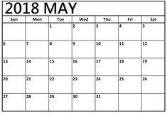 May 2018 Calendar, 2018 Printable Calendar, Excel Calendar Template, February Calendar, Kids Calendar, December, Printable Templates, Monthly Calendars, Holiday Calendar