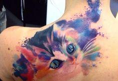 El significado de los tatuajes de gatos - http://www.tatuantes.com/significado-tatuajes-de-gatos/