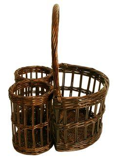 Bogget Wicker Storage Wicker Empty Oval Storage Basket Egg Collection Wine Picnic Kitchen Basket Basket Picking Fruit Wedding Picnic