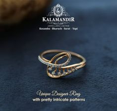 Unique designer ring with pretty intricate patterns for the divas out there. Visit Kalamandir Jewellers for an amazing diamond jewellery collection.