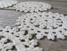 Six Vintage Handmade Doilies by oldschoolfarm on Etsy, $20.00