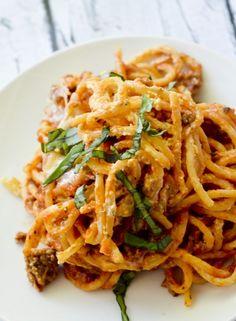 Baked Cream Cheese Spaghetti Casserole – Weight Watcher Recipe Diaries
