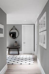 Décor do dia: corredor cinza e clássico - Casa Vogue | Décor do dia