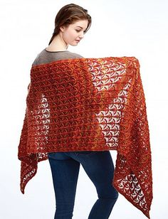 Fanfare Wrap By Patons - Free Knitted Pattern - (ravelry)