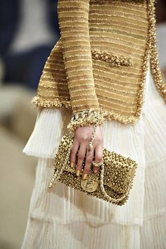 Chanel...white and gold - the greatest combination