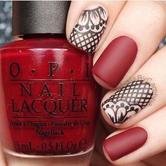 Having short nails is extremely practical. The problem is so many nail art and manicure designs that you'll find online Cute Nail Art, Beautiful Nail Art, Gorgeous Nails, Pretty Nails, Lace Nails, Red Nails, Opi Red, Valentine's Day Nail Designs, Stamping Nail Art